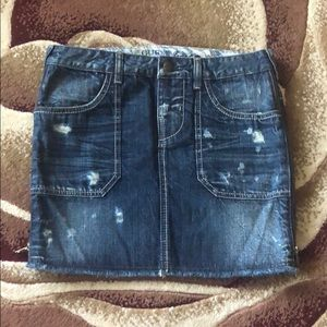 Guess Skirts - Guess distressed side zip denim skirt, size 27,new